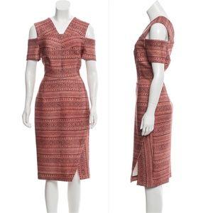 YIGAL AZROUËL Cold-Shoulder Midi Dress